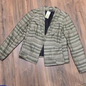 NWT Premise gold and black blazer is 4P